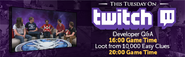 Twitch developer QA lobby banner
