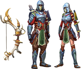 White Stag and Skirmisher armour concept art