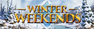 Winter Weekends lobby banner