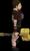 Golden hammer equipped