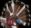Bernie the turkey protestor