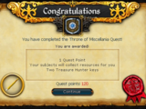 Throne of Miscellania/Quick guide