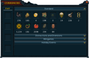 Currency pouch interface