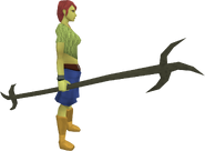 Replica Ahrim's staff equipped
