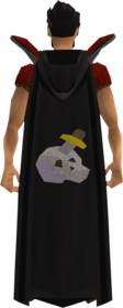 Retro hooded slayer cape equipped