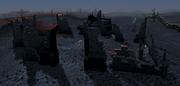 Demonic ruins view