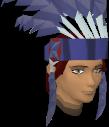 Feather headdress (blue) chathead