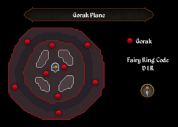 Gorak Plane map