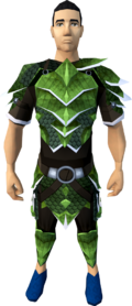 Green dragonhide armour (t) (male) equipped