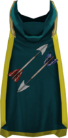 Hooded fletching cape (t) detail