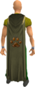 Hunter cape equipped