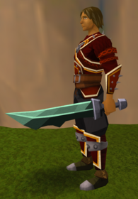 Off-hand adamant ceremonial sword V equipped