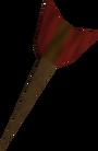Off-hand bronze dart detail