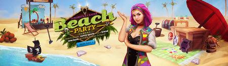 Summer Beach Party head banner