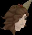 Beach Chocolate Hair chathead (female)