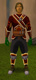 Dwarf weed gloves equipped