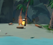 Message in a bottle (The Island Which May or May Not Have Monkeys on It) in-game