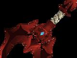 Off-hand dragon battleaxe