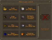 Random event gift (F2P) interface