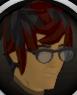 Stylish glasses (black) chathead