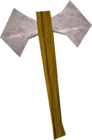 White battleaxe detail old