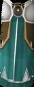 Calças cerimoniais antigas detalhe