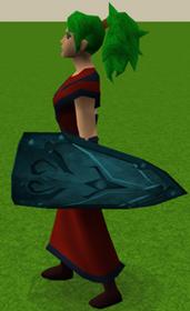 Escudo ogival rúnico equipado