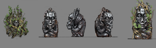 Overgrown Idols concept art