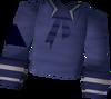 Blue naval shirt detail