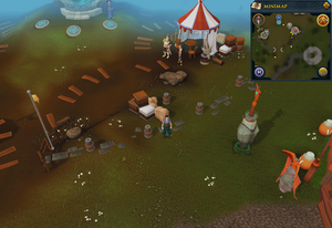 Compass clue Falador south of Clan Camp