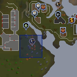 Fight Arena mining site map