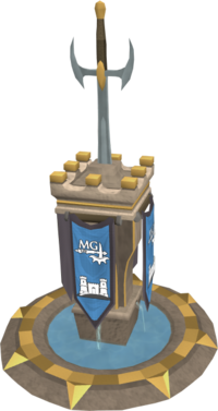 Ornate melee pillar