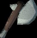 Sacred clay hatchet detail