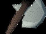 Sacred clay hatchet