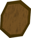 Wooden shield detail