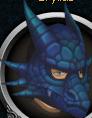 Blue dragon mask chathead
