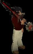 Espada divina de Zamorak equipada