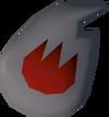 Fire rune (The Slug Menace) detail