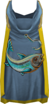 Hooded fishing cape (t) detail