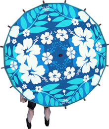 Maui parasol equipped
