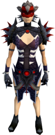 Royal dragonhide armour (spiky) (female) equipped