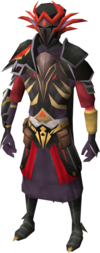 Warpriest of Zamorak set equipped