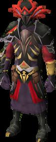 Warpriest of Zamorak set equipped