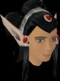 Elf-style wig (black, female) chathead