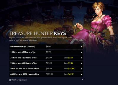 Purchasing Key Tokens