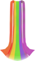 Rainbow cape detail