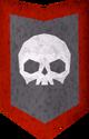 Rune kiteshield (Skull) detail