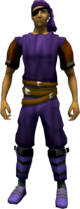Bandana and eyepatch (purple) equipped