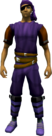 Bandana and eyepatch (purple) equipped.png