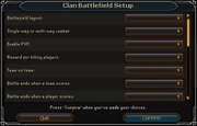 Clan Battlefield Setup interface